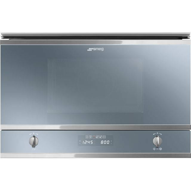 Smeg Classic MP422S Built In Microwave with Grill - Silver Glass - MP422S_SG - 1