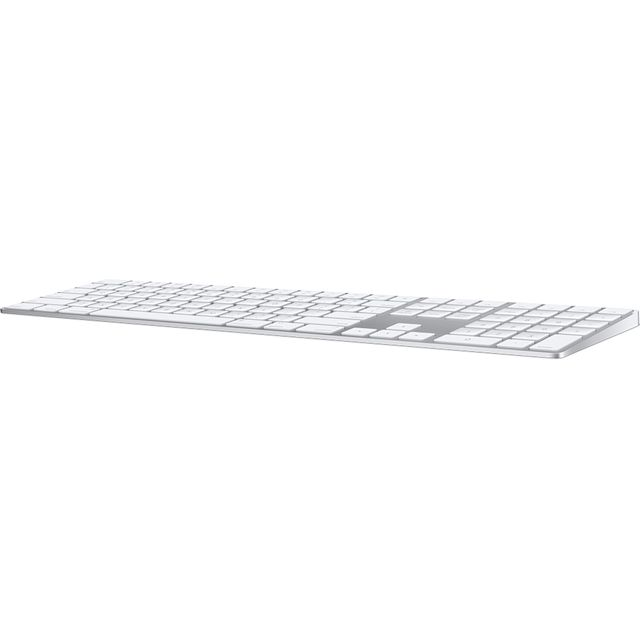 Apple Magic Keyboard with Numeric Keypad - British - Silver / White - MQ052B/A - 1