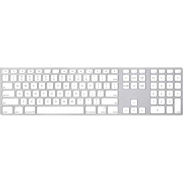 Apple Magic Keyboard with Numeric Keypad - British MQ052B/A Keyboard in Silver / White