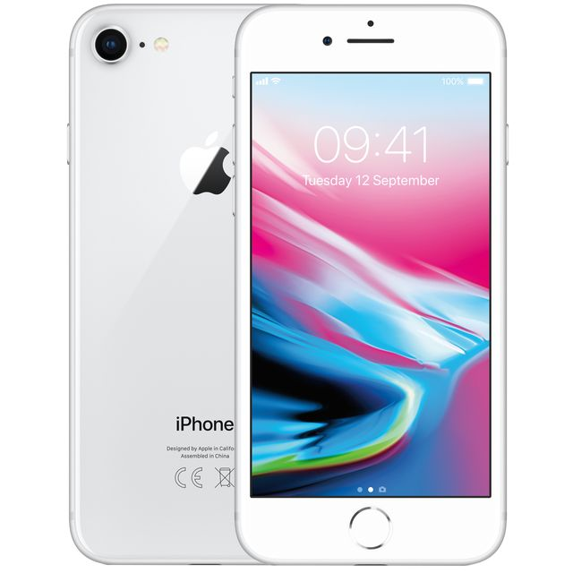 Apple iPhone 8 MQ6H2B/A Mobile Phone in Silver