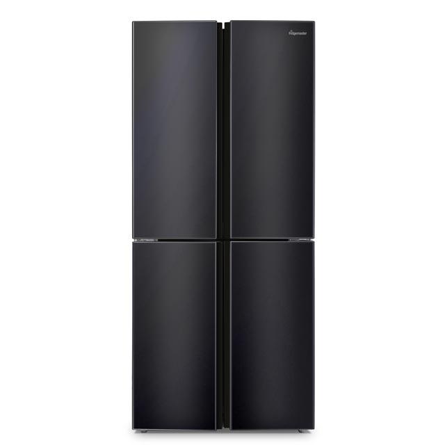 Fridgemaster Free Standing American Fridge Freezer in Black