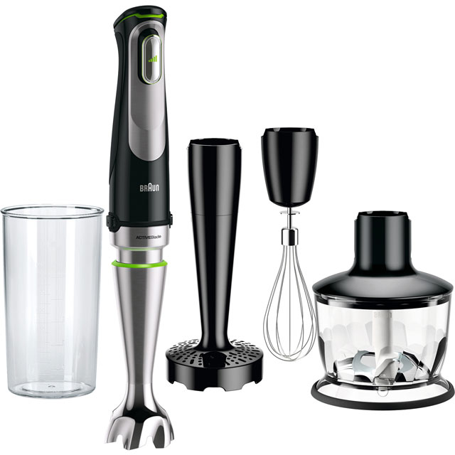 Braun MultiQuick 9 MQ9037 Hand Blender with 3 Accessories - Black