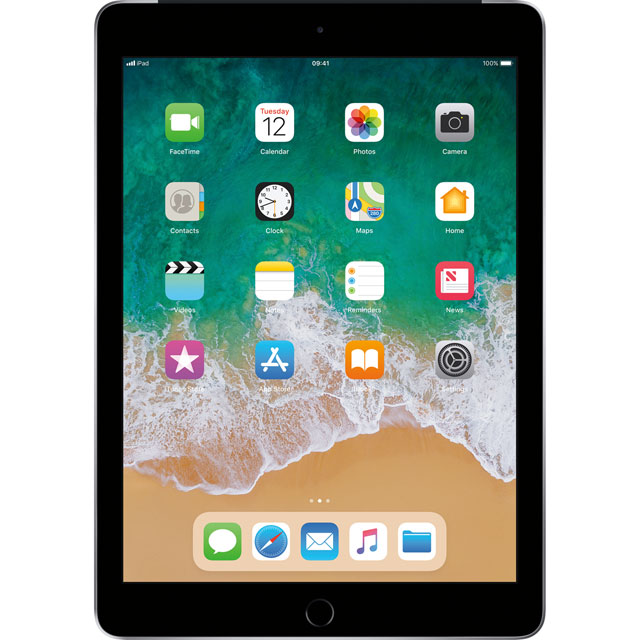 "Apple iPad 9.7"" 128GB Wifi + Cellular [2018] - Space Grey - MR7C2B/A - 1"