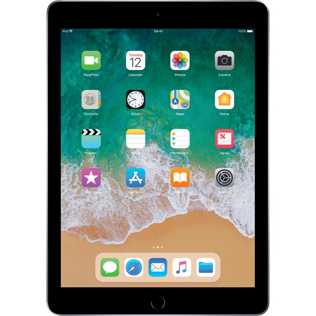 "Apple iPad 9.7"" 128GB Wifi [2018] - Space Grey - MR7J2B/A - 1"