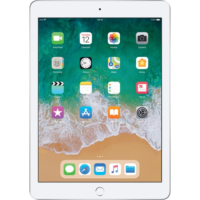 "Apple iPad 9.7"" 128GB Wifi [2018] - Silver - MR7K2B/A - 1"