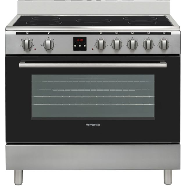 Montpellier MR90CEMX 90cm Electric Range Cooker with Ceramic Hob - Stainless Steel