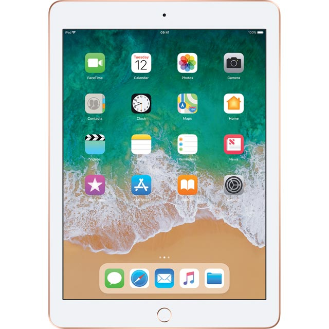 "Apple iPad 9.7"" 128GB Wifi [2018] - Gold - MRJP2B/A - 1"