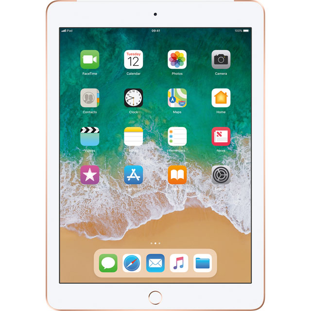 "Apple iPad 9.7"" 32GB Wifi + Cellular [2018] - Gold - MRM52B/A - 1"