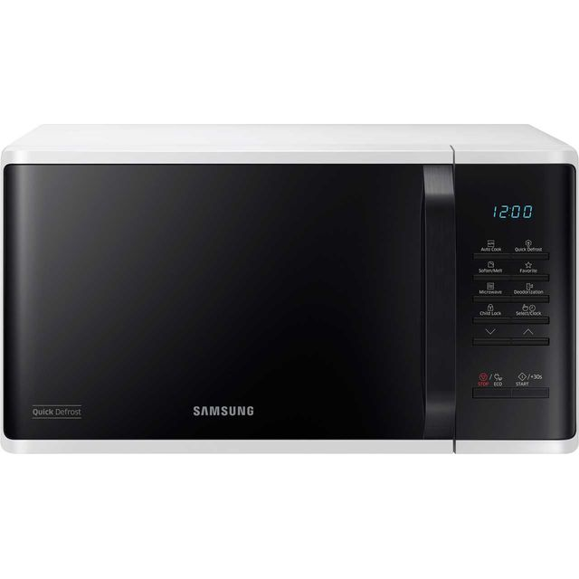 Samsung MS23K3513AW 23 Litre Microwave - White - MS23K3513AW_WH - 1