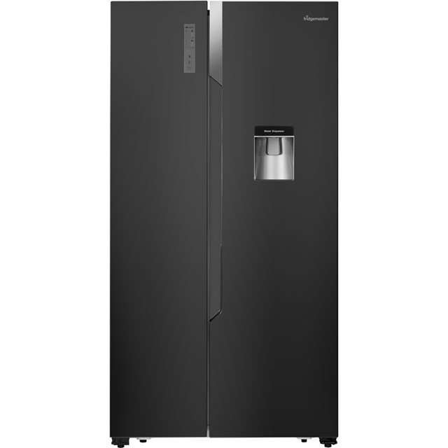 Fridgemaster MS91515BFF American Fridge Freezer - Black - MS91515BFF_BK - 1