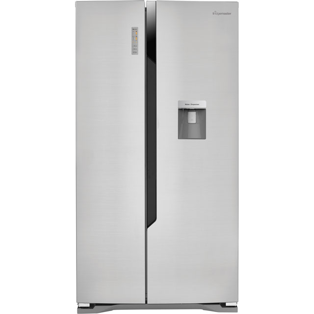 Fridgemaster MS91515DFF American Fridge Freezer - Silver - A+ Rated - MS91515DFF_SI - 1