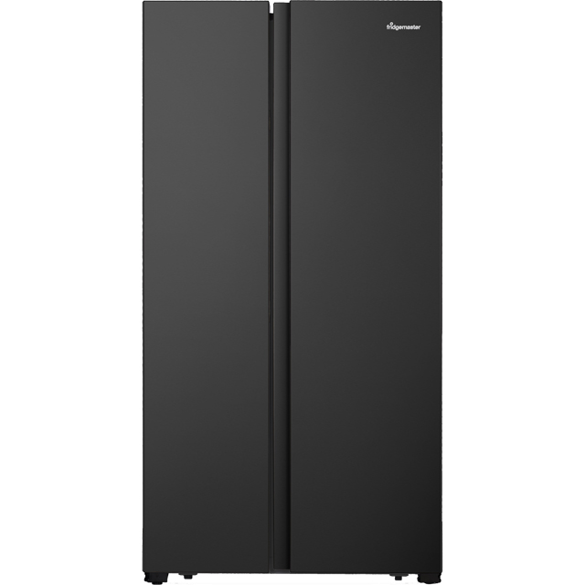Fridgemaster MS91518FBS American Fridge Freezer - Black / Stainless Steel - A+ Rated