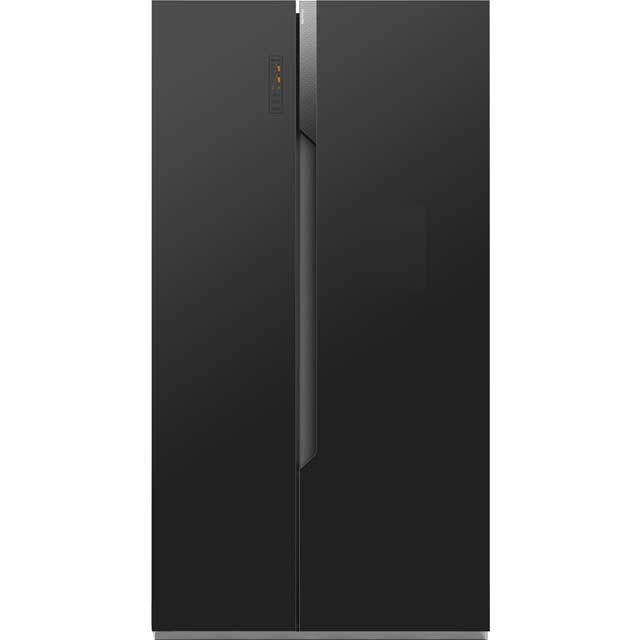 Cheap American Fridge Part - 47: Fridgemaster MS91518FFB American Fridge Freezer - Black £429.00 - SAVE £90