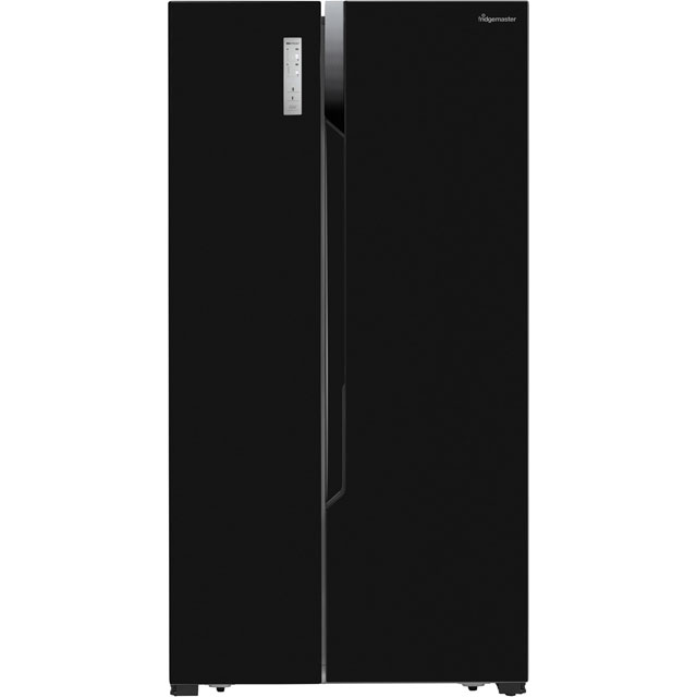 Fridgemaster MS91518FFB American Fridge Freezer - Black - MS91518FFB_BK - 1