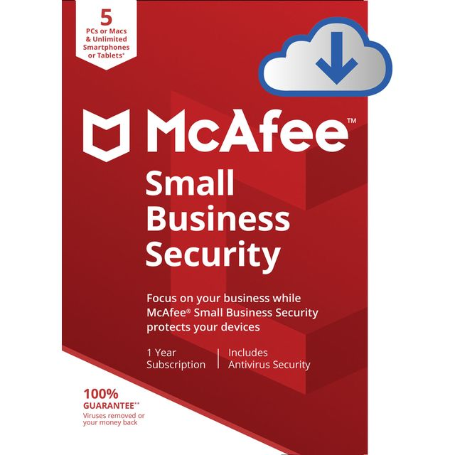 McAfee Digital Download for 5 Devices - One Time Purchase