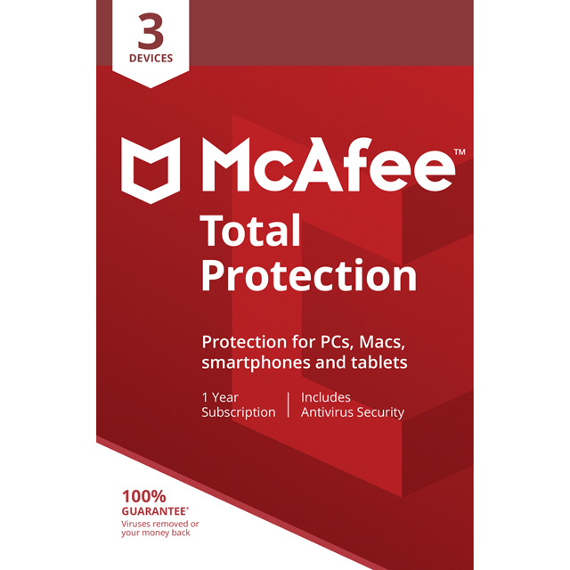 McAfee Digital Download for 3 Devices - One Time Purchase