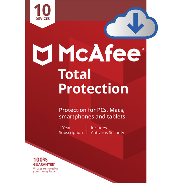 McAfee Total Protection MTP00UNRXRDD Software