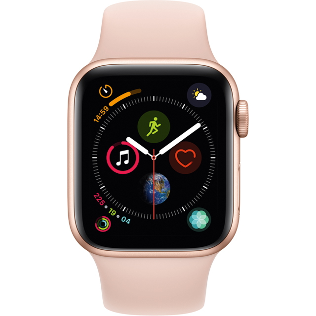 Apple Watch Series 4 with Sports Band, 40mm, GPS + Cellular [2018] - Rose Gold - MTVG2B/A - 1