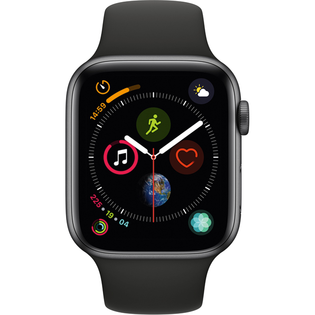Apple Watch Series 4 with Sports Band, 44mm, GPS + Cellular [2018] - Space Grey - MTVU2B/A - 1