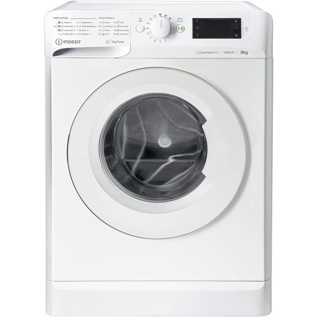 Indesit My Time MTWE91483WUK 9Kg Washing Machine with 1400 rpm - White - A+++ Rated - MTWE91483WUK_WH - 1