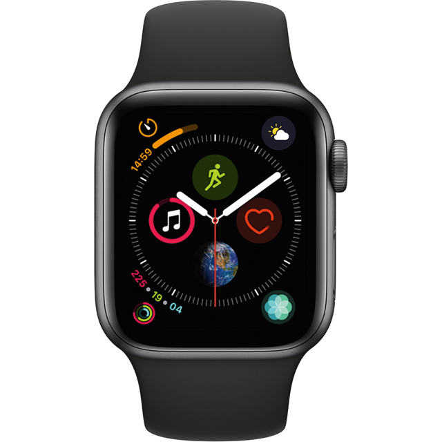 Apple Watch Series 4, 40mm, GPS [2018] - Space Grey Aluminium Case with Black Sport Band - MU662B/A - 1