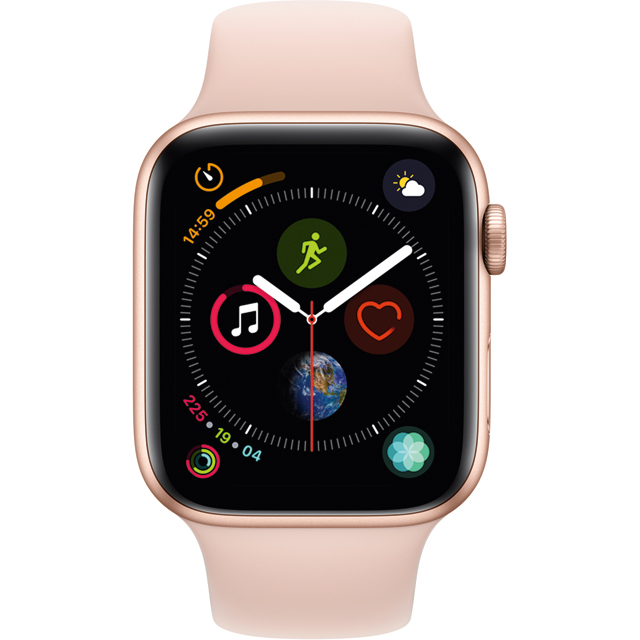 Apple Watch Series 4 with Sports Band, 44mm, GPS [2018] - Rose Gold - MU6F2B/A - 1