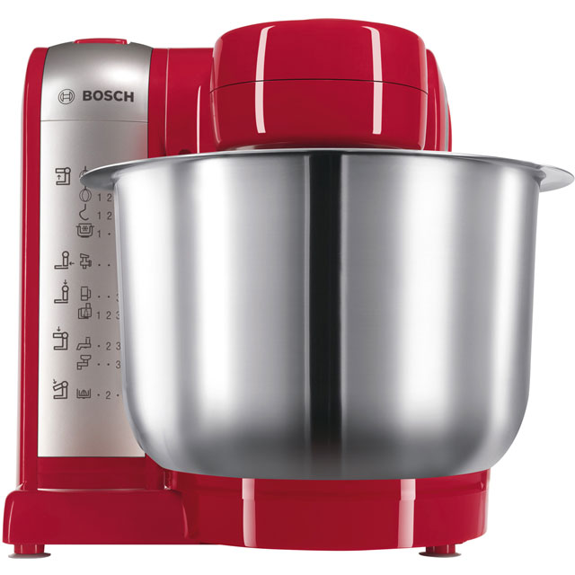 Bosch Kitchen Machine MUM48R1GB Stand Mixer with 3.9 Litre Bowl - Red / Silver - MUM48R1GB_RD - 1