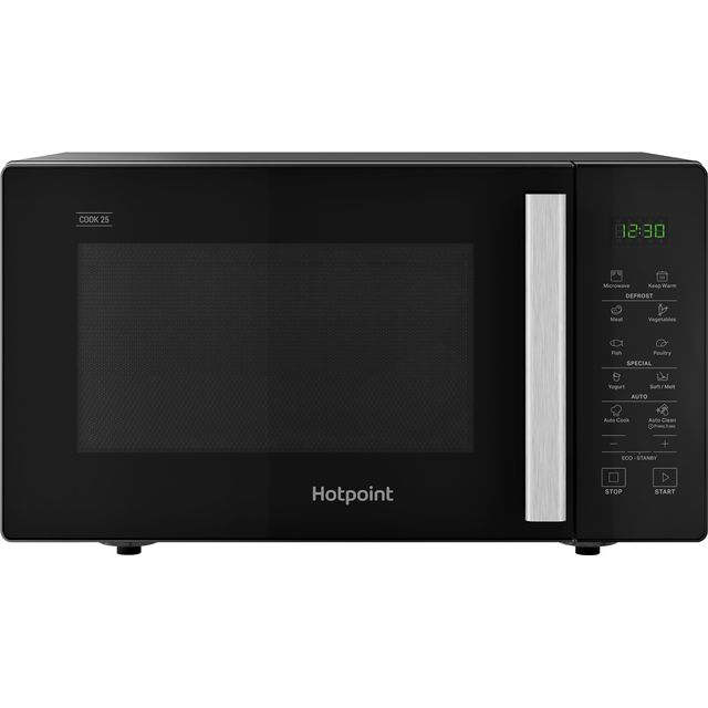 Hotpoint COOK 25 MWH251B 25 Litre Microwave - Black - MWH251B_BK - 1