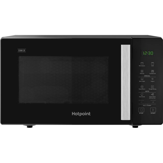Hotpoint MWH253B 25L 1000W Freestanding Microwave Oven with Grill - Black