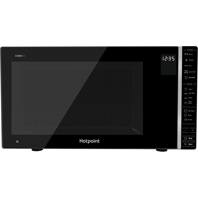 Hotpoint COOK 30 MWH303B 30 Litre Microwave With Grill - Black - MWH303B_BK - 1