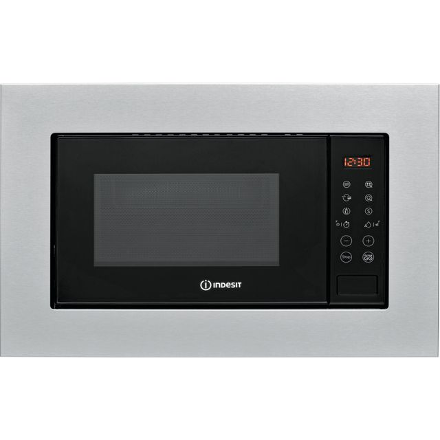 Indesit MWI120GXUK Built In Microwave - Stainless Steel - MWI120GXUK_SS - 1