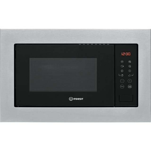 Indesit MWI125GXUK Built In Microwave With Grill - Stainless Steel - MWI125GXUK_SS - 1
