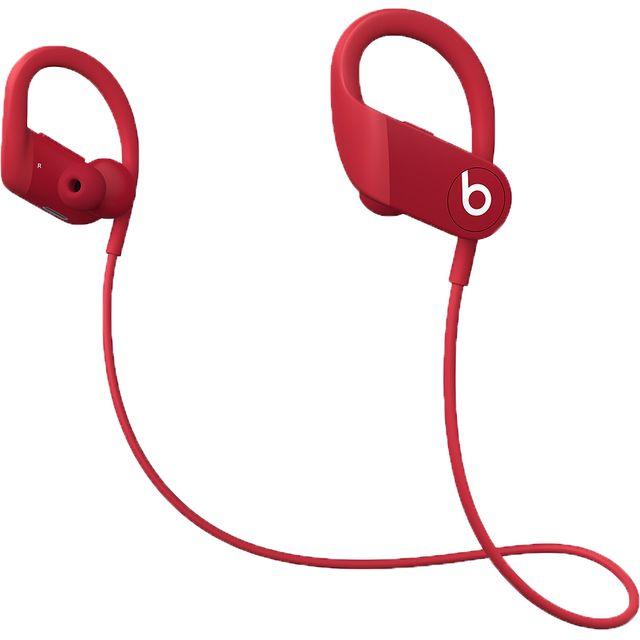 Image of Beats Powerbeats In-Ear Water Resistant Wireless Bluetooth Headphones - Red