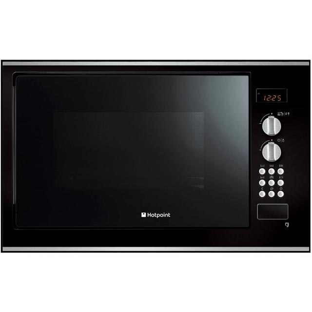 Hotpoint Built In Microwave with Grill - Black