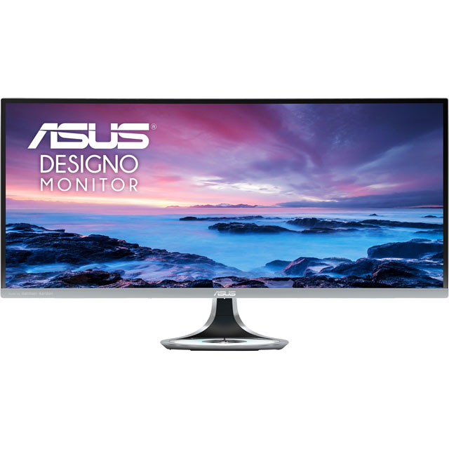 "Asus Designo Curve MX34VQ WQHD 34"" 100Hz Curved Monitor - Space Grey - MX34VQ - 1"