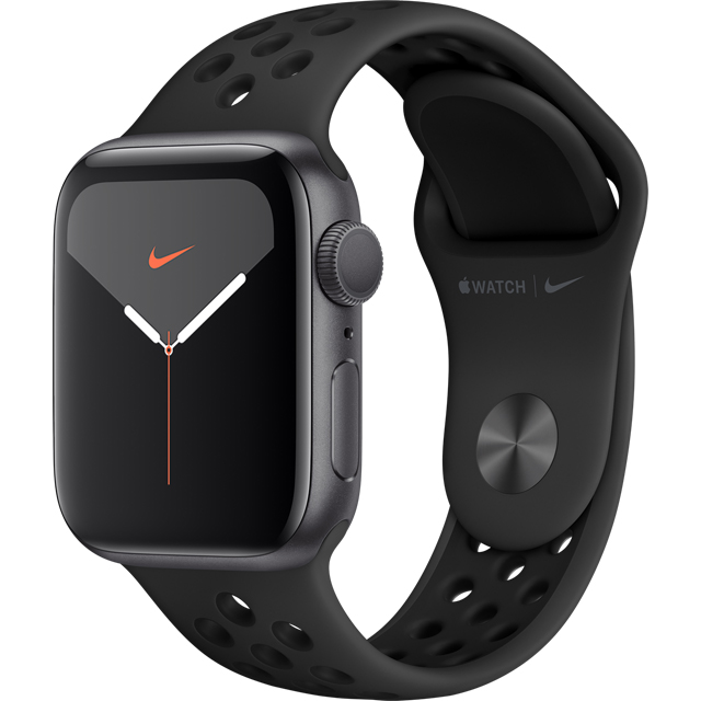 Apple Watch Series 5, 40mm, GPS [2019] - Space Grey Aluminium Case with Anthracite/Black Nike Sport Band - MX3T2B/A - 1