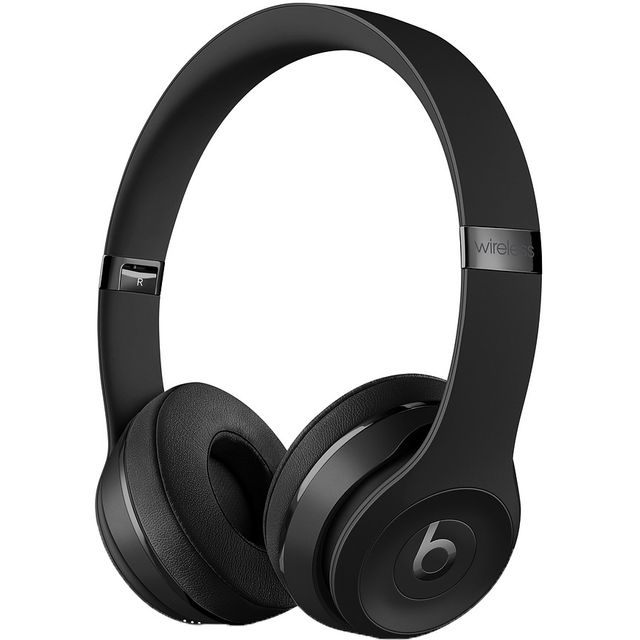 Beats Solo3 On-Ear Wireless Bluetooth Headphones - Black