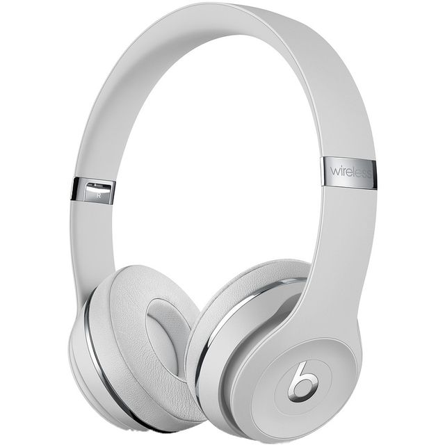 Beats Solo3 On-Ear Wireless Bluetooth Headphones - Satin Silver