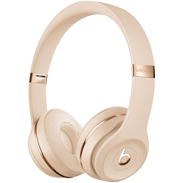 Beats Solo3 On-Ear Wireless Bluetooth Headphones - Satin Gold