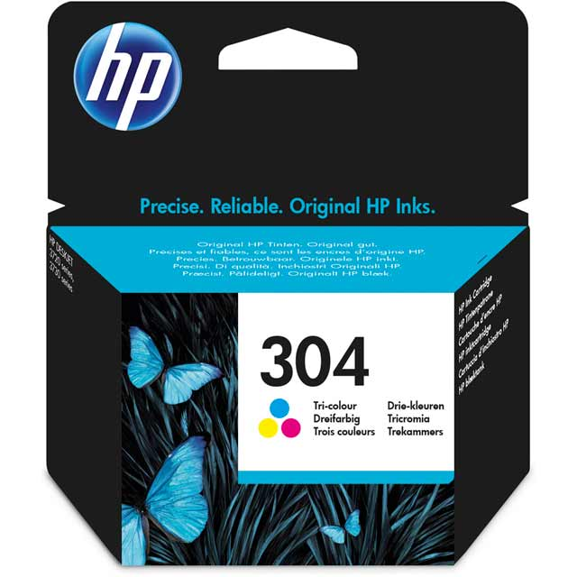 HP 304 Tri-color Original Ink Cartridge - N9K05AE - 1