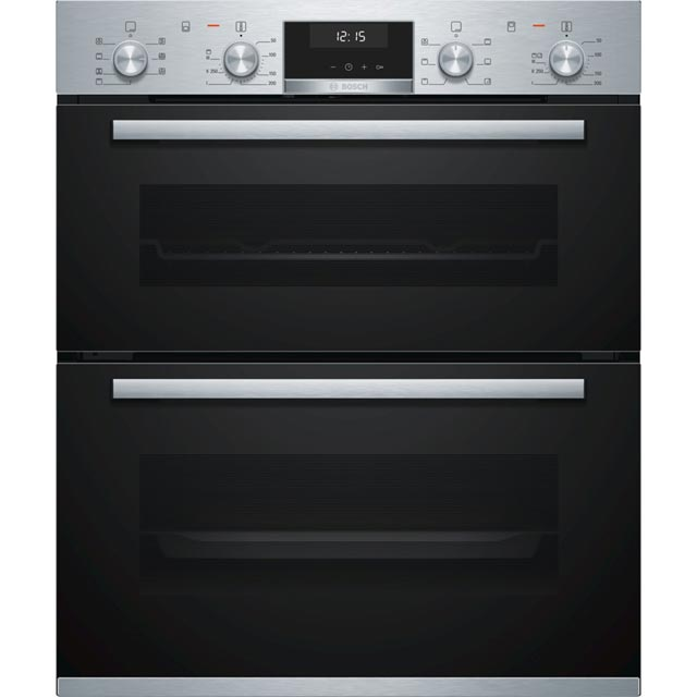 Bosch Serie 6 NBA5350S0B Built Under Electric Double Oven - Stainless Steel - NBA5350S0B_SS - 1