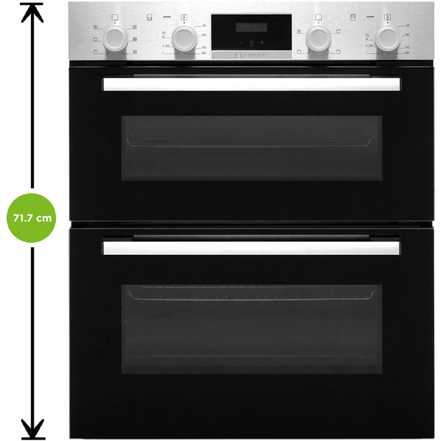 Bosch Serie 2 NBS113BR0B Built Under Double Oven - Stainless Steel - NBS113BR0B_SS - 2