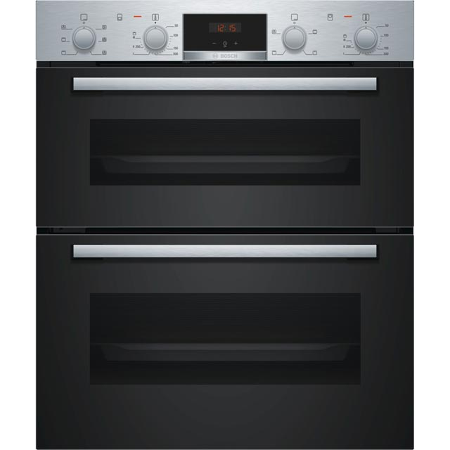 Bosch Serie 2 NBS113BR0B Built Under Double Oven - Stainless Steel