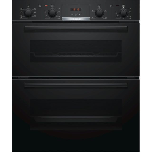 Bosch Serie 4 NBS533BB0B Built Under Double Oven - Black - A/B Rated - NBS533BB0B_BK - 1