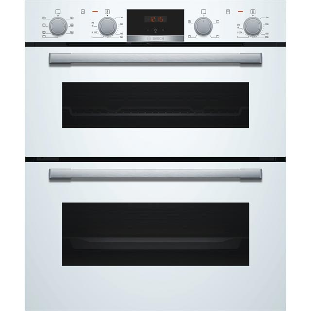 Bosch Serie 4 NBS533BW0B Built Under Double Oven - White - A/B Rated - NBS533BW0B_WH - 1