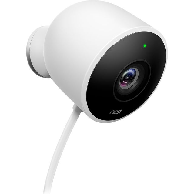 Nest Cam Outdoor Security Camera NC2100GB Smart Home Security Camera in White