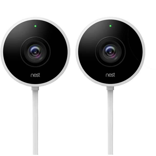 Nest Cam Outdoor Security Camera (Twin Pack) NC2400GB Smart Home Security Camera in White