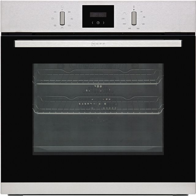 NEFF N30 B1GCC0AN0B Built In Electric Single Oven - Stainless Steel - B1GCC0AN0B_SS - 1