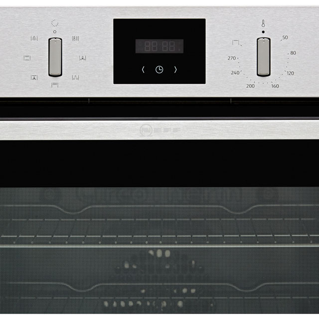NEFF N30 B1GCC0AN0B Built In Electric Single Oven - Stainless Steel - B1GCC0AN0B_SS - 2