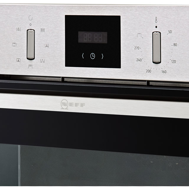 NEFF N30 B1GCC0AN0B Built In Electric Single Oven - Stainless Steel - B1GCC0AN0B_SS - 3